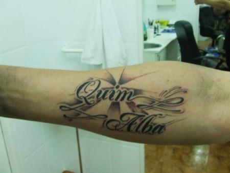 Tatuaje De Dos Nombres