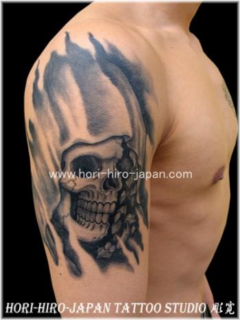 Imagenes De Calaberas Y Marihuana Tatuaje De Una Calavera Y Una Flor