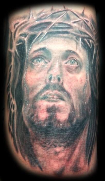 Tatuaje De La Cara De Cristo