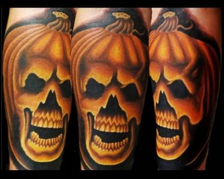 Tatuaje de la calabaza de halloween - Disenos de calabazas de halloween ...