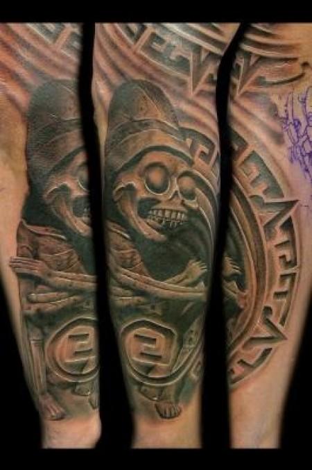Tatuaje De Una Momia Azteca