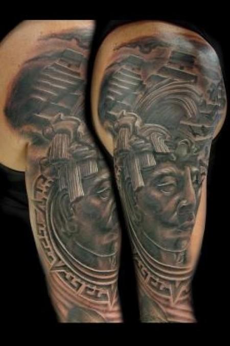 Tatuaje de una maya for Tattoos mexicanos fotos