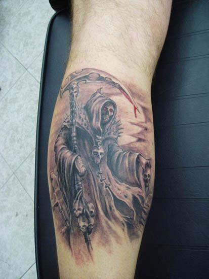 Tattoo De La Muerte Con Su Guadaña