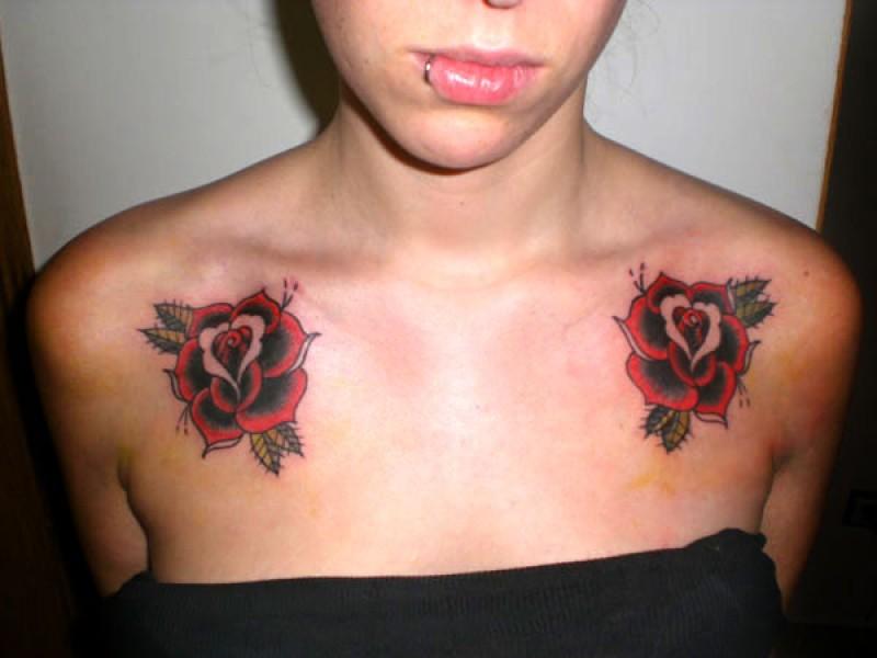 Tatuajes De Rosas Con Nombre En El Pecho Sfb