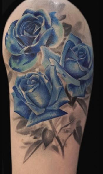 Tattoo de rosas a color - Tatuajes de Rosas