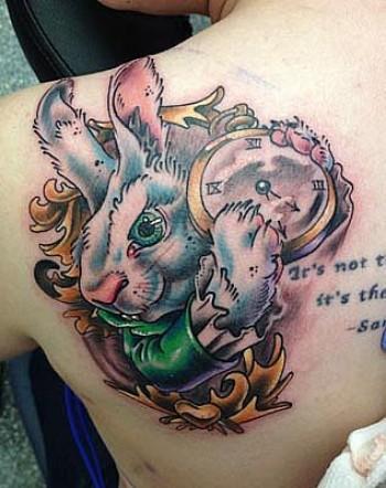 Tatuaje del conejo de alicia en el pa s de las maravillas tatuajes de conejos - Conejo de alicia en el pais de las maravillas ...