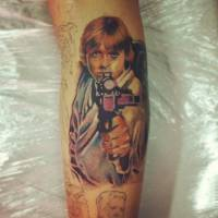 Tatuaje de Luke Skywalker