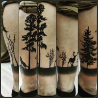 Tattoo de un bosque