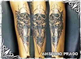 Tatuajes de calaveras for Calavera lobo