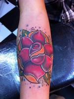 Tattoo de una rosa old school